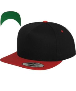 snapback-cap-classic-schwarzrot-5-panel-verstellbar