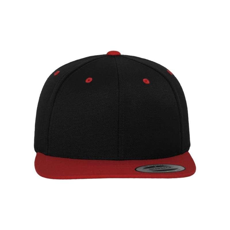 snapback cap classic schwarz rot selber mit designen. Black Bedroom Furniture Sets. Home Design Ideas