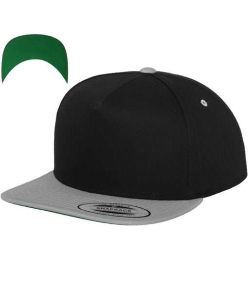 snapback-cap-classic-schwarzsilber-5-panel-verstellbar