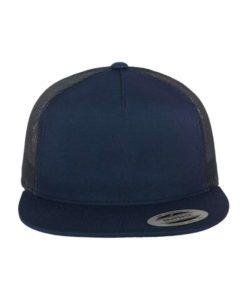 Snapback Cap Classic Trucker dunkelblau- verstellbar Ansicht vorne