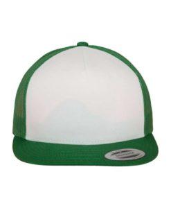 Snapback Cap Classic Trucker grün - verstellbar Ansicht vorne