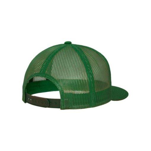 Snapback Cap Classic Trucker grün - verstellbar Seitenansicht hinten