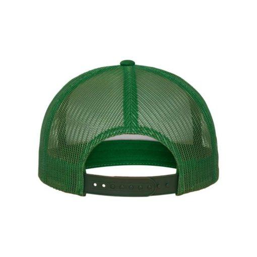 Snapback Cap Classic Trucker grün - verstellbar Ansicht hinten