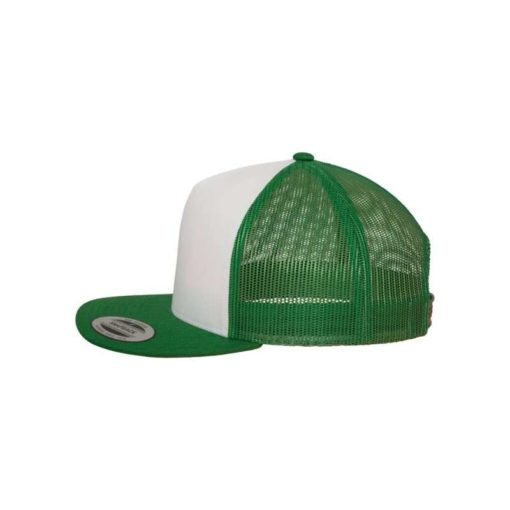 Snapback Cap Classic Trucker grün - verstellbar Seitenansicht links