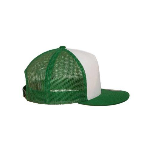 Snapback Cap Classic Trucker grün - verstellbar Seitenansicht rechts