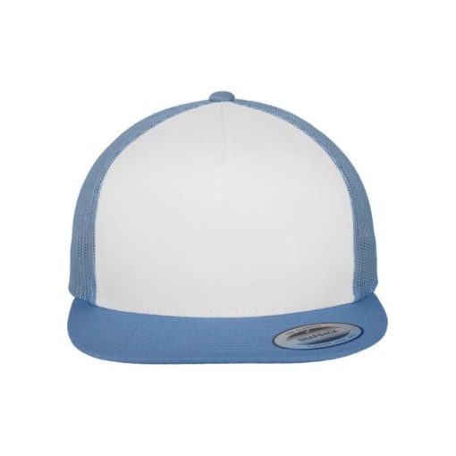 Snapback Cap Classic Trucker hellblau - verstellbar Ansicht vorne