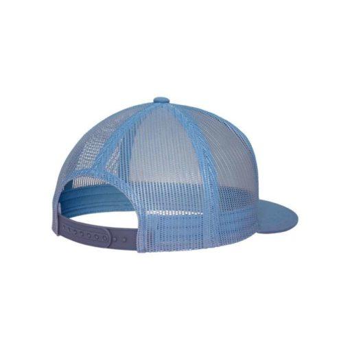 Snapback Cap Classic Trucker hellblau - verstellbar Seitenansicht hinten