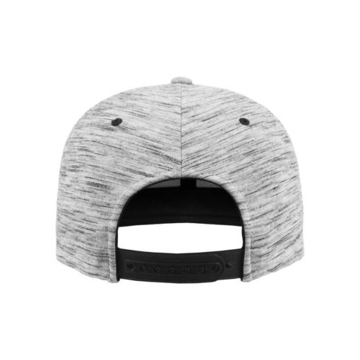 Snapback Cap Melange/Schwarz 6 Panel - verstellbar Ansicht hinten