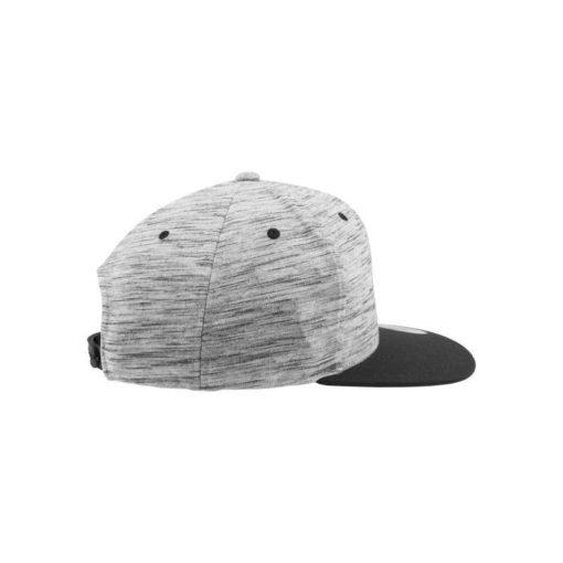 Snapback Cap Melange/Schwarz 6 Panel - verstellbar Seitenansicht rechts