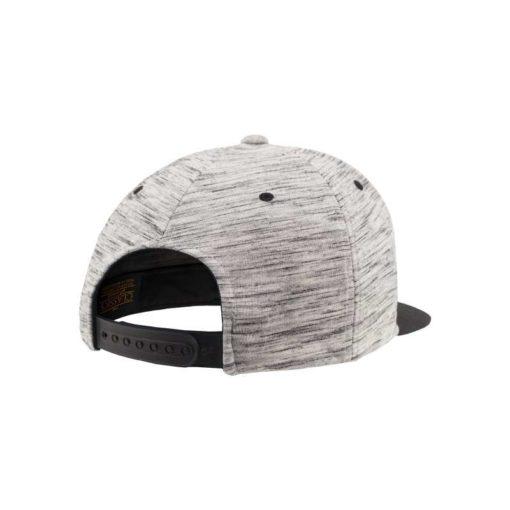 Snapback Cap Melange/Schwarz 6 Panel - verstellbar Seitenansicht hinten