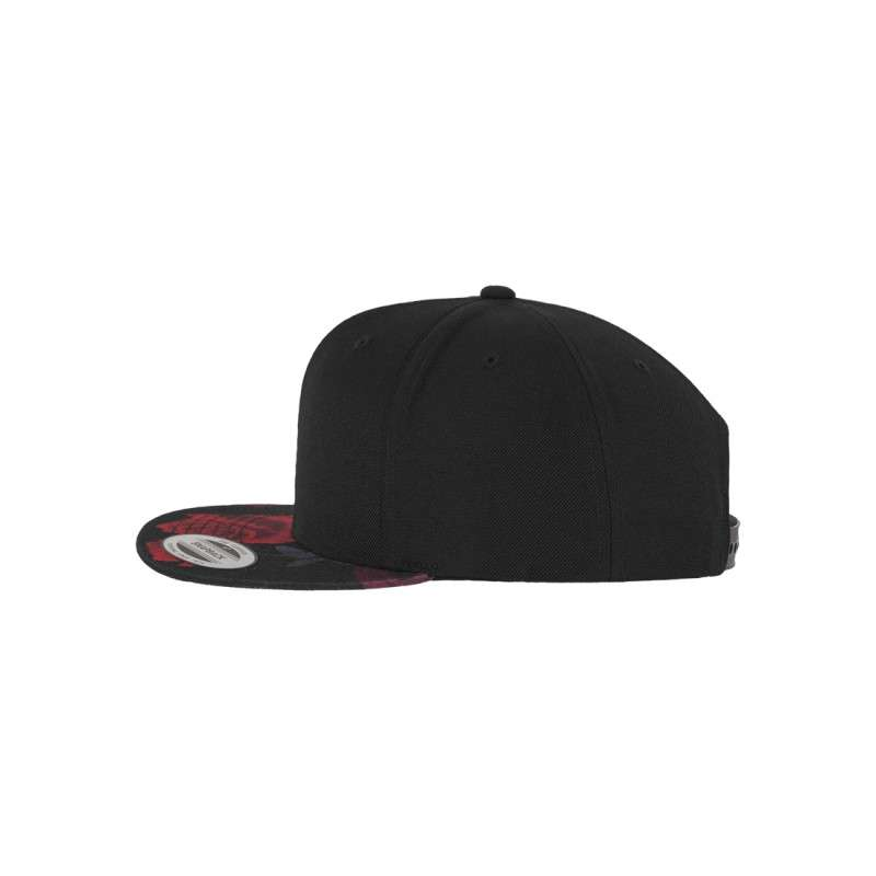 snapback cap rote rosen 6 panel mit logo besticken. Black Bedroom Furniture Sets. Home Design Ideas