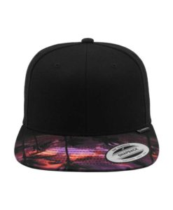 Snapback Cap Sunset Peak 6 Panel - verstellbar Ansicht vorne