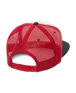 Snapback Cap Trucker Foam Rot/Weiß/Schwarz- verstellbar Seitenansicht hinten