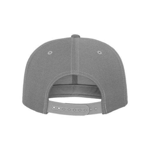 Snapback Cap Classic Silber 6 Panel - verstellbar Ansicht hinten