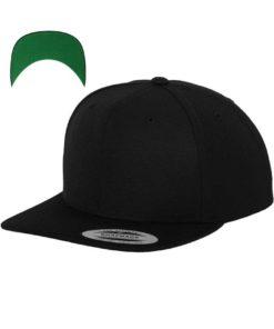 Snapback Cap besticken - Snapback Cap Classic schwarz 6 Panel verstellbar