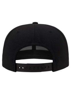 Snapback Cap Perforated Visor Schwarz verstellbar Ansicht hinten