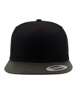 Snapback Cap Perforated Visor Olive verstellbar Ansicht vorne