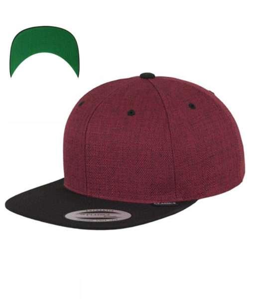 premium-snapback-cap-melange-rotmeliert-6panel-verstellbar