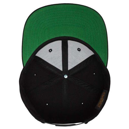Snapback Cap besticken - Snapback Cap Classic schwarz 6 Panel verstellbar Unterschild