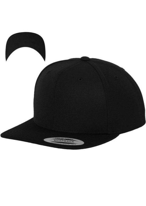 Snapback Cap besticken - Snapback Cap Classic schwarz/schwarz 6 Panel verstellbar