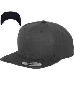 Snapback Cap besticken - Snapback Cap Classic dunkelgrau/dunkelgrau 6 Panel verstellbar