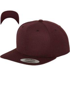 Snapback Cap besticken - Snapback Cap Classic dunkelrot/dunkelrot 6 Panel verstellbar