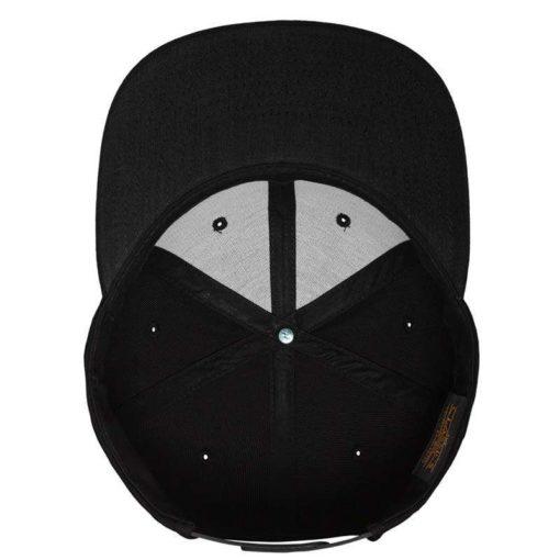 Snapback Cap besticken - Snapback Cap Classic schwarz/schwarz 6 Panel verstellbar Unterschild