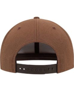Snapback Cap Classic Tan 6 Panel - verstellbar Ansicht hinten