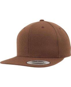 Snapback Cap Classic Tan 6 Panel - verstellbar