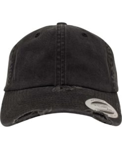 FlexFit Low Profile Destroyed Cap 6 Panel - verstellbar Ansicht vorne