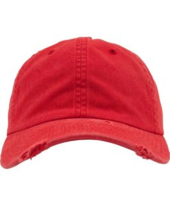 FlexFit Low Profile Destroyed Rot Cap 6 Panel - verstellbar Ansicht vorne