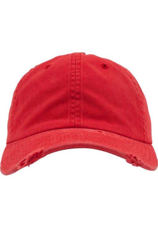 FlexFit Low Profile Destroyed Rot Cap 6 Panel - verstellbar Ansicht vorne