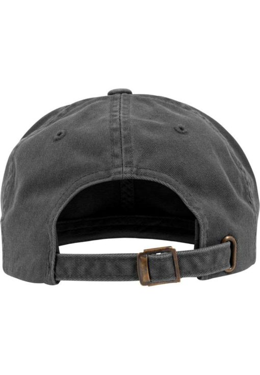 FlexFit Low Profile Destroyed Dunkelgrau Cap 6 Panel - verstellbar Ansicht hinten