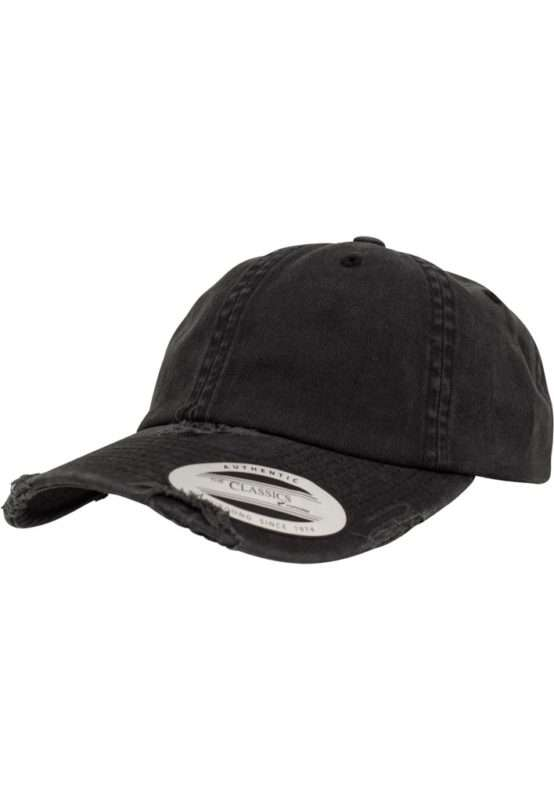 FlexFit Low Profile Destroyed Cap 6 Panel - verstellbar