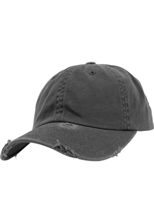 FlexFit Low Profile Destroyed Dunkelgrau Cap 6 Panel - verstellbar