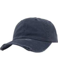 FlexFit Low Profile Destroyed Navy Cap 6 Panel - verstellbar