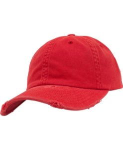 FlexFit Low Profile Destroyed Rot Cap 6 Panel - verstellbar