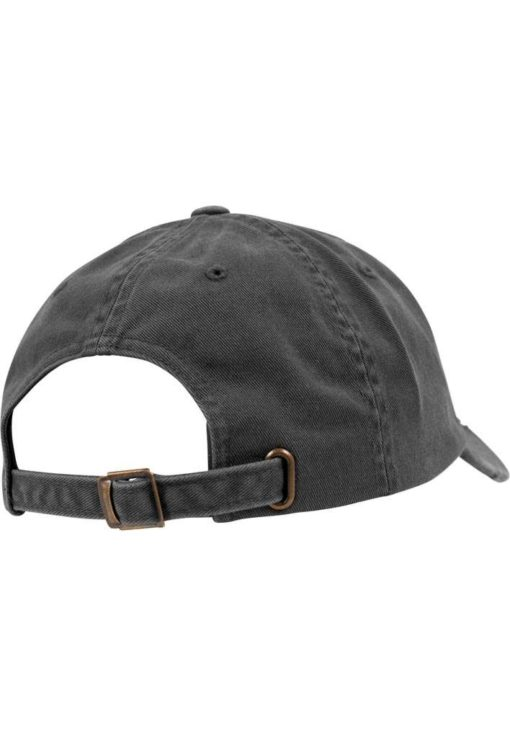 FlexFit Low Profile Destroyed Dunkelgrau Cap 6 Panel - verstellbar Seitenansicht hinten