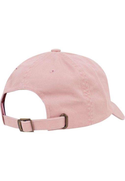 FlexFit Low Profile Destroyed Pink Cap 6 Panel - verstellbar Seitenansicht hinten