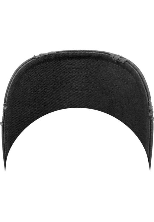 FlexFit Low Profile Destroyed Dunkelgrau Cap 6 Panel - verstellbar Schild