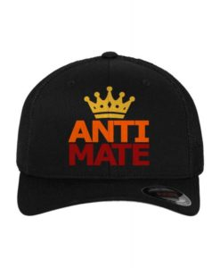 "Gerritkillerine ""Anti Mate"" Flexfit Cap Mesh Trucker Schwarz - Fitted"