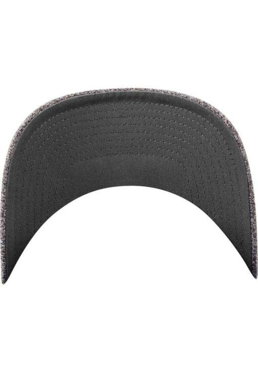 Flexfit Melange Cap dark/heathergrey Seitenansicht hinten