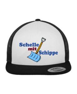 """namis_world """"Schippe"""" Snapback Cap Classic Trucker Schwarz/Weiß/Schwarz - verstellbar"""