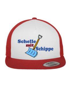 "namis_world ""Schippe"" Snapback Cap Classic Trucker Rot/Weiß/Rot - verstellbar"