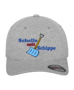 "namis_world ""Schippe"" Flexfit Cap Double Strickjersey Graumeliert - Fitted"