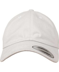 FlexFit Cap Peached Cotton Twill Dad Hellgrau - verstellbar Ansicht vorne