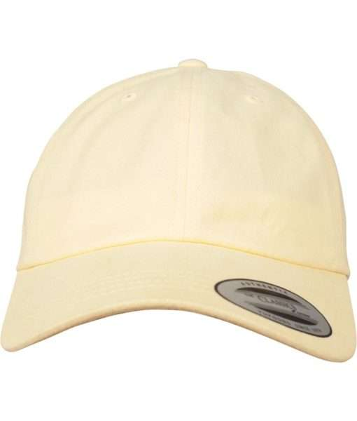 Premium Cap Peached Cotton Twill Dad Gelb - verstellbar - styleyourcap® 0a9e864cfb17