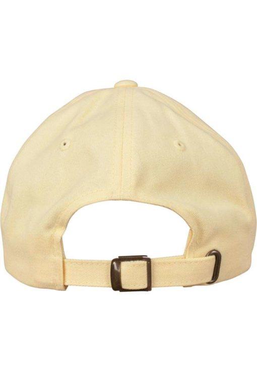 FlexFit Cap Peached Cotton Twill Dad Gelb - verstellbar Ansicht hinten