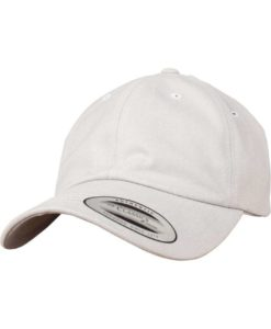 FlexFit Cap Peached Cotton Twill Dad Hellgrau - verstellbar