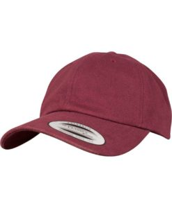 FlexFit Cap Peached Cotton Twill Dad Maroon - verstellbar